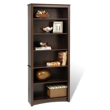 Bookcase with Six Shelves in Espresso