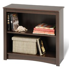 Bookcase with Two Shelves in Espresso
