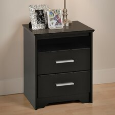 <strong>Prepac</strong> Coal Harbor 2 Drawer Nightstand