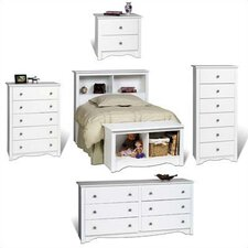 <strong>Prepac</strong> White Monterey Headboard Bedroom Collection