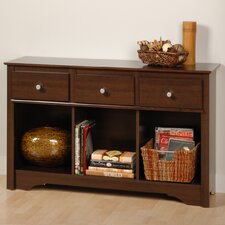 <strong>Prepac</strong> Living Room 3 Drawer Console Table