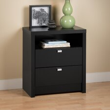 <strong>Prepac</strong> Designer Series 9 Tall 2 Drawer Nightstand
