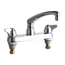 Double Handle Centerset Kitchen Faucet with Wing Canopy Handles