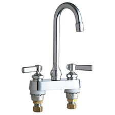 <strong>Chicago Faucets</strong> Centerset Bathroom Sink Faucet with Double Lever Handles