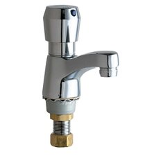 Single Hole Bathroom Sink Faucet with Single Pump Handle
