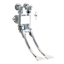 834 Wall Mount Double Pedal Self-Closing Valve in Chrome