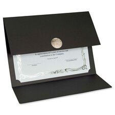 "<strong>First-Base</strong> Certificate Holder, 12-1/2""x9-1/4"", 5/PK, Linen BK/SR"