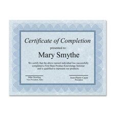 "Certificates,8-1/2""x11"",24 lb,100/PK,Regent BE/SR w/ Seals"