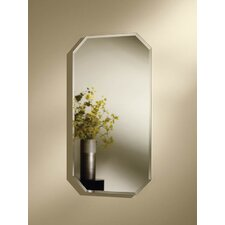 Mirage Single Door Recessed Cabinet with Octagon Beveled Mirror