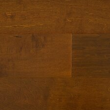"Glueless Click 4"" Engineered Maple in Saddle Brown"