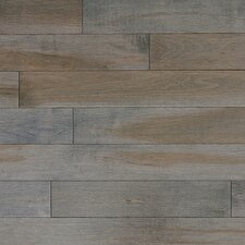 "Stained Semi-Gloss 4-1/4"" Solid Maple Flooring in Charcoal/Natural"