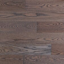 SAMPLE - Stained Semi-Gloss Solid Red Oak in Charcoal Light / Natural