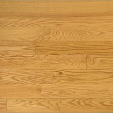 "Semi-Gloss 3-1/4"" Solid Red Oak Flooring in Select and Better"