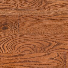 "Stained Semi-Gloss 4-1/4"" Solid Red Oak Flooring in Gunstock/Folk"