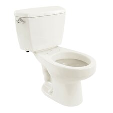 Carusoe 1.6 GPF Round 2 Piece Toilet