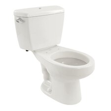 Carusoe 1.6 GPF Round 2 Piece Toilet with Bolt Down Lid and Insulated Tank