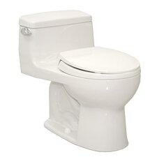 Supreme Power Gravity Low Consumption 1.6 GPF Round 1 Piece Toilet