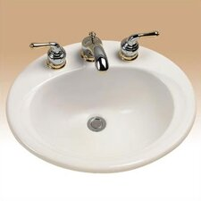 "ADA Compliant 20.38"" Self Rimming Bathroom Sink"