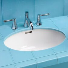 "ADA Compliant 21.63"" Rimless Undermount Bathroom Sink with SanaGloss Glazing"