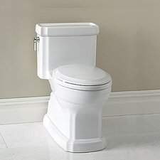 Guinevere ADA Compliant 1.28 GPF Round 1 Piece Toilet with SanaGloss Glazing
