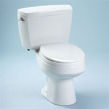 Carusoe 1.6 GPF Round 2 Piece Toilet with Bolt Down Lid