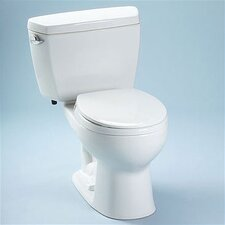 <strong>Toto</strong> Drake 1.6 GPF Elongated 2 Piece Toilet with Bolt Down Lid