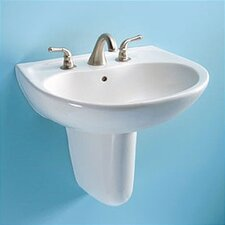 Supreme Wall Mount Bathroom Sink Set with SanaGloss Glazing