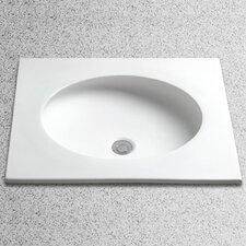 Curva Undercounter Bathroom Sink with Overflow