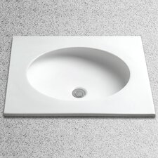 Curva Self Rimming Bathroom Sink with Overflow