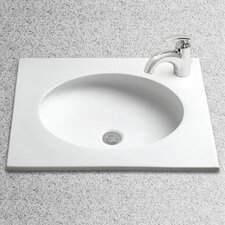Curva Self Rimming Bathroom Sink