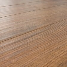 12mm Handscraped Oak Laminate in Distressed Natural