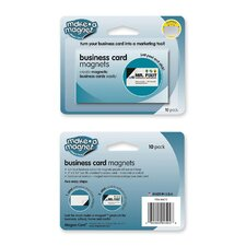 "Business Card Magnets, 2""x3-1/2"", 10/PK"