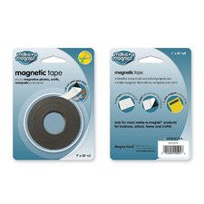 "Magnetic Tape,Super-Strength,1-Side Adhesive,1""x10',Black"