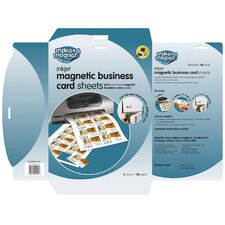 Magnectic Business Card Sheets, Letter, 3 Sheets per Pack
