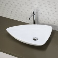 Classically Redefined Triangular Vessel Bathroom Sink