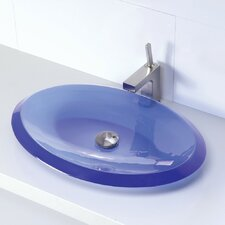 Incandescence Oval Vessel Bathroom Sink