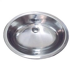 <strong>DecoLav</strong> Simply Stainless Drop-In/Undermount Bathroom Sink with Overflow
