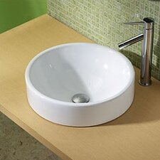 <strong>DecoLav</strong> Classically Redefined Round Ceramic Vessel Bathroom Sink