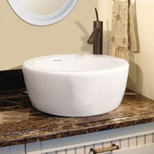 Classically Redefined Round Ceramic Vessel Sink with Overflow