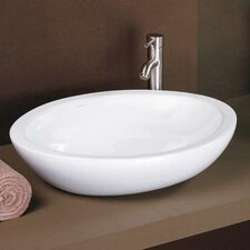 Egg Shaped Vitreous China Vessel Sink