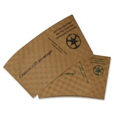 Hot Beverage Sleeves, Fits 12-20 oz. Cups, 1300/CT, Brown