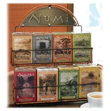 Tea Rack, 3 Boxes Each of 8 Flavors of Tea