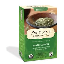 <strong>NUMI Organic Tea</strong> Mate Lemon Rainforest Green Tea (18 Pack)