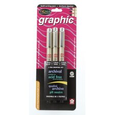 Pigma Graphic Drawing Pen (Set of 3)