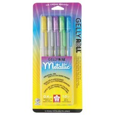 Gelly Roll Hot Metallic Gel Pen (Set of 5)