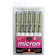 Micron Pigma Pen (Set of 6)