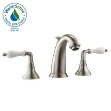 Classic Widespread Bathroom Faucet with Double Porcelain Lever Handles