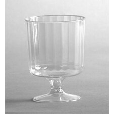 Classic Crystal Plastic Wine Glass on Pedestal in Clear