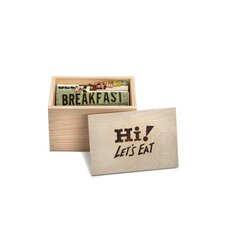 Roadtrip Let's Eat Wood Box with Recipe Cards