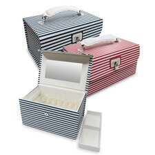 Amanda Striped Cosmetic Jewelry Box